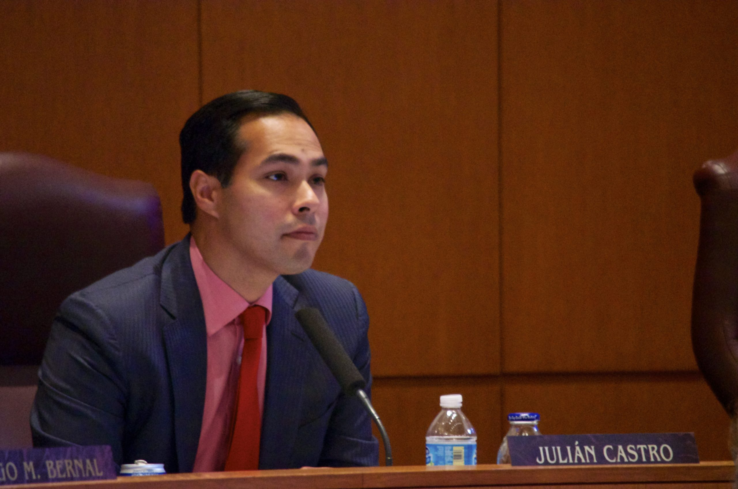 Mayor Castro listens during one of the final citizens to be heard sessions before the vote on the NDO. Photo by Katee Boyd.