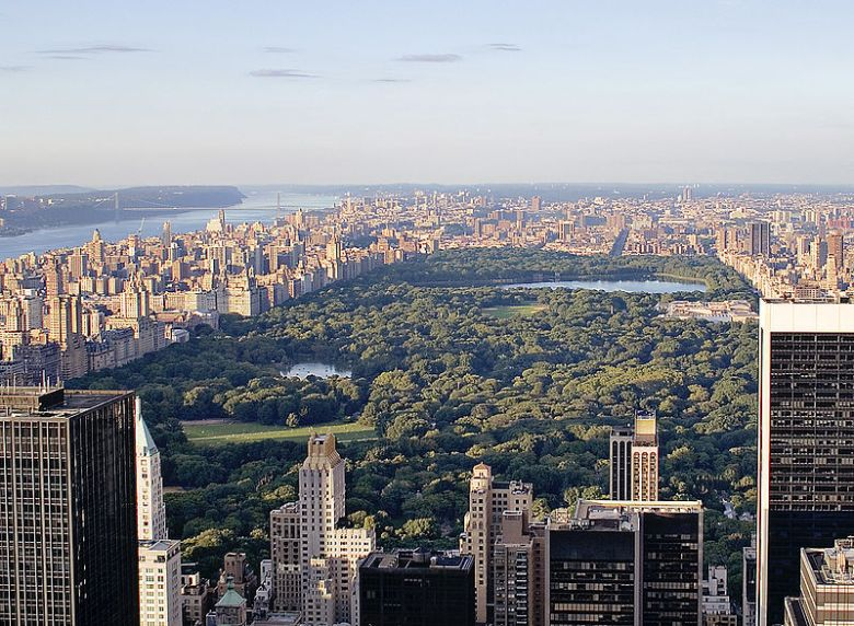 Central Park in Manhattan, New York, viewed from the top of Rockefeller Center. Image by Alfred Hutter.