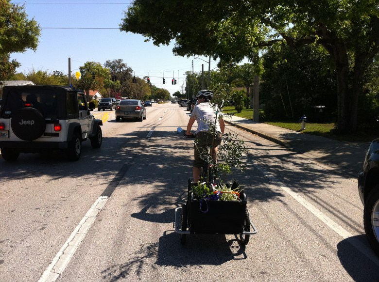 Some bikes require more space on the roadway. Photo by Keri Caffrey. Used with permission.