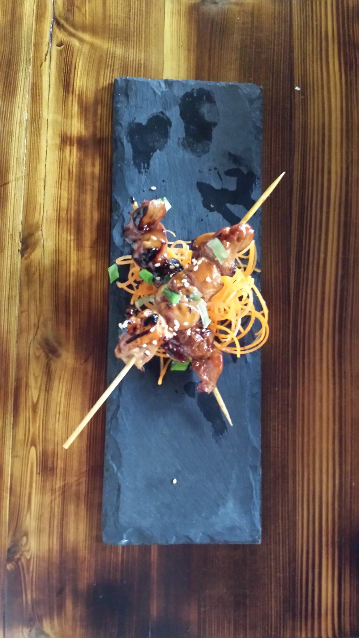 Yakitori (skewered, grilled chicken) dish at Kimura. Photo by Winslow Swart.