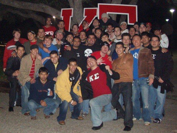Members of the Kappa Sigma fraternity, UTSA chapter. Photo courtesy of Jaime Solis.