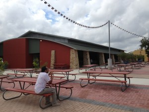 One of the new pavilions at Mission Count Park