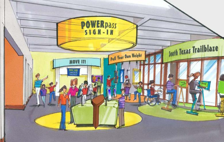 An artists rendering of one of the elements of the new center.
