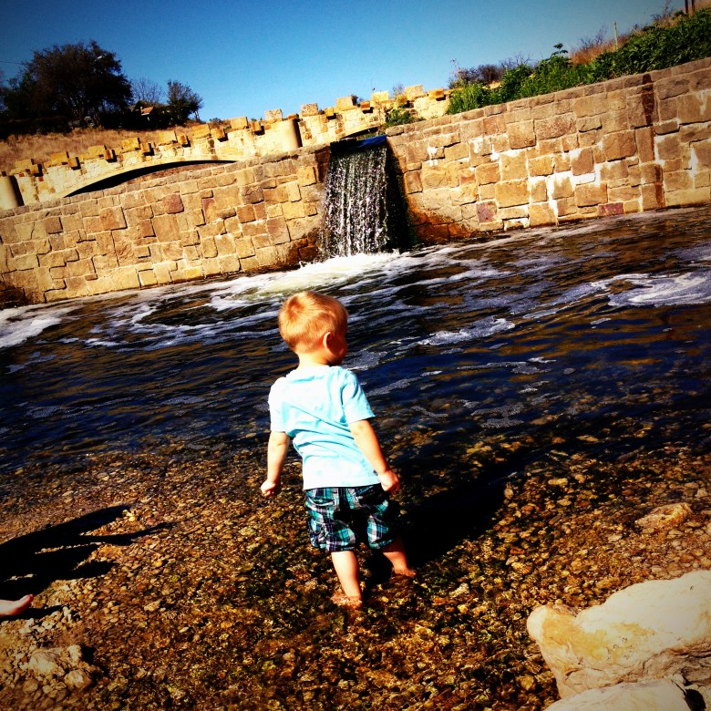 My son, Kingston, enjoying the water at Concepcion Park. Jeff Reininger