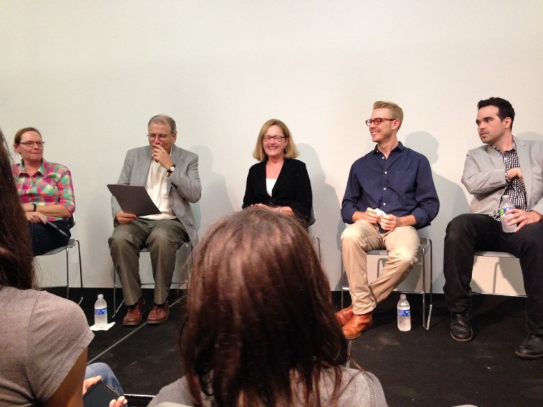 Left to right: Ethel Shipton, Dean Edward Dupuy, Paula Owen, Justin Boyd, Dario Robleto