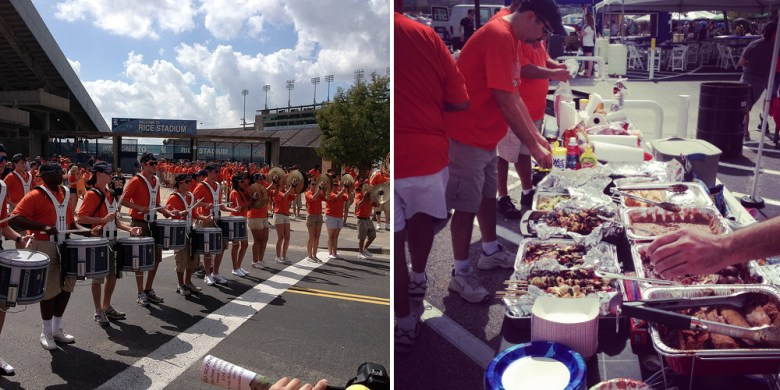 From a Rice University (Houston) tailgate with Anthony Ramirez and the Texas Fat Boys tailgate crew. Courtesy photo.