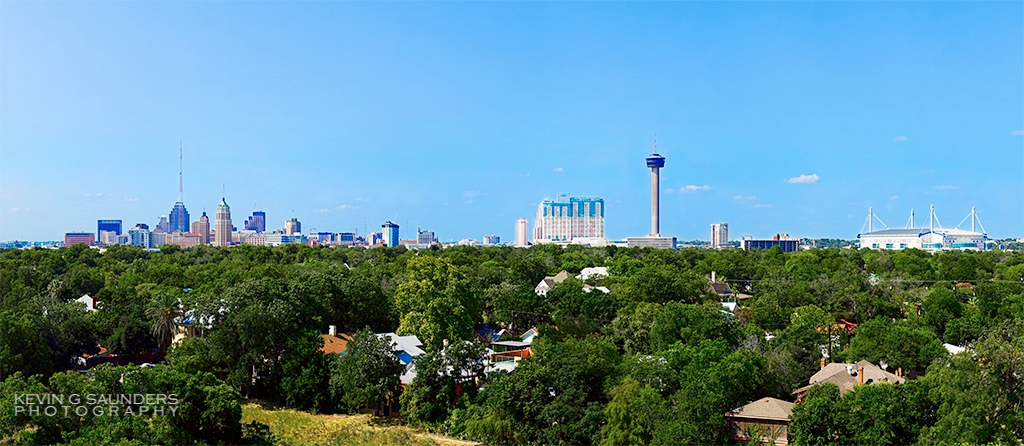San Antonio skyline by Kevin G. Saunders.