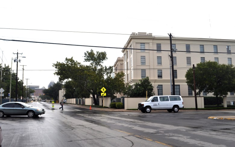 H-E-B headquarters looking north at the intersection of Main Avenue and Arsenal Street. Photo by Iris Dimmick.