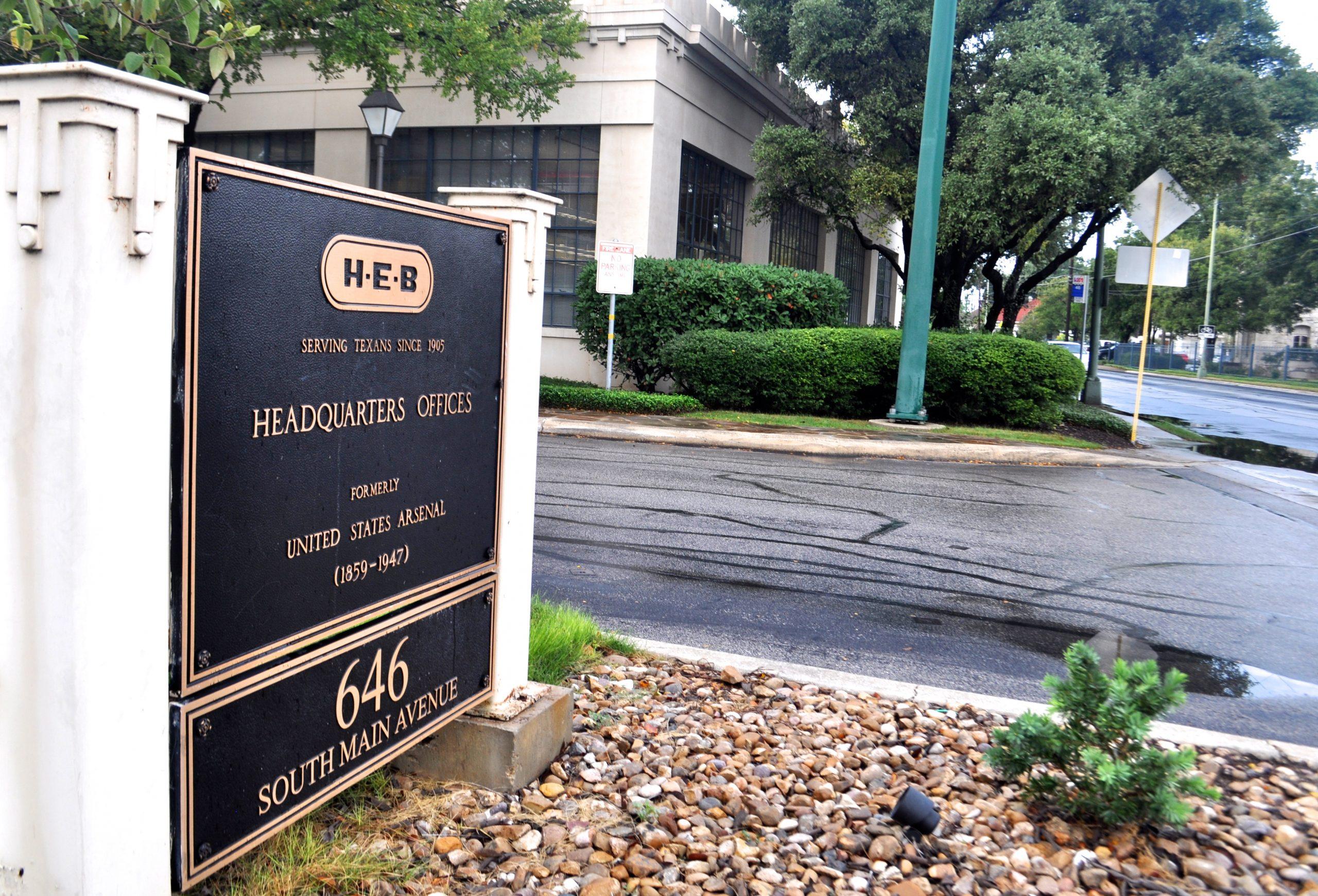 H-E-B headquarters entrance off Main Avenue. Photo by Iris Dimmick.