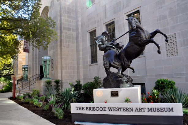 The Briscoe Western Art Museum's main entrance off of West Market. Photo by Iris Dimmick.