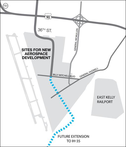 The 36th Street extension through Port San Antonio.