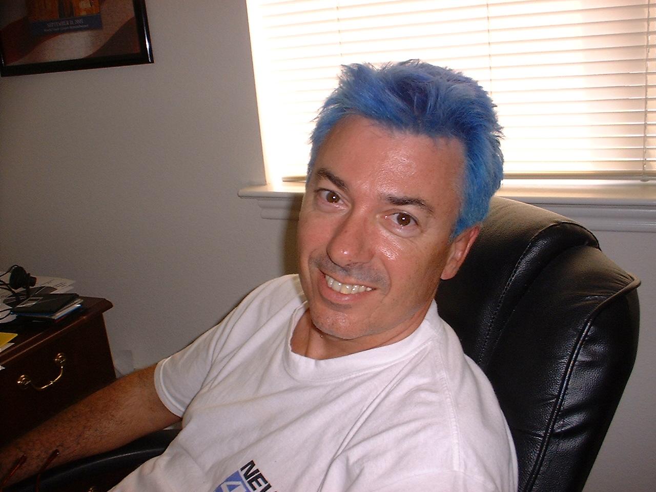 A blue phase for Tony Ralf. Courtesy photo.
