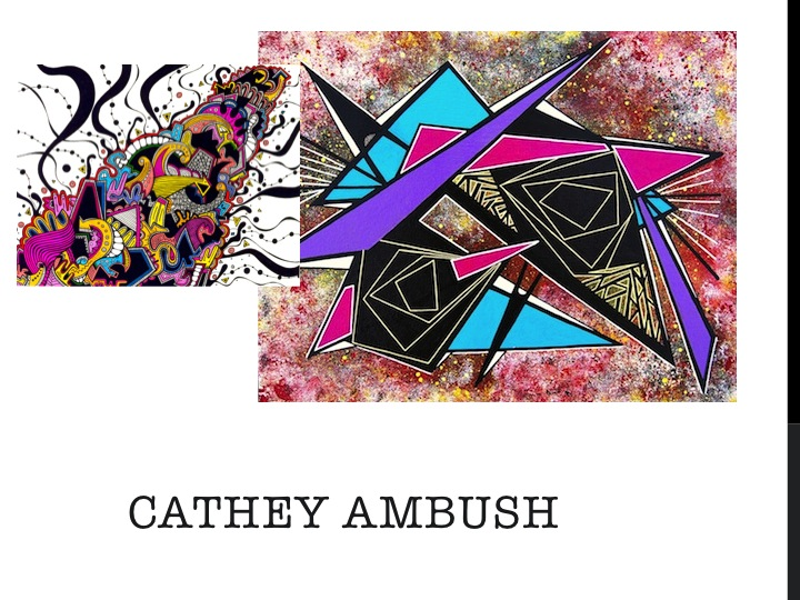 A selection of local artist Cathey Ambush's work which will be represented in the CSA.