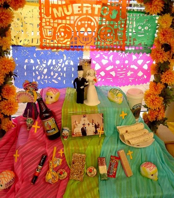 An altar from a 2012 Día de los Muertos celebration. Photo by John Schulze.