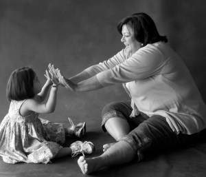 Advocate Jan Brown with CASA child Abby. Photo courtesy of Will Langmore Photography.