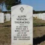 Alton Vernon Thurmond memorial grave