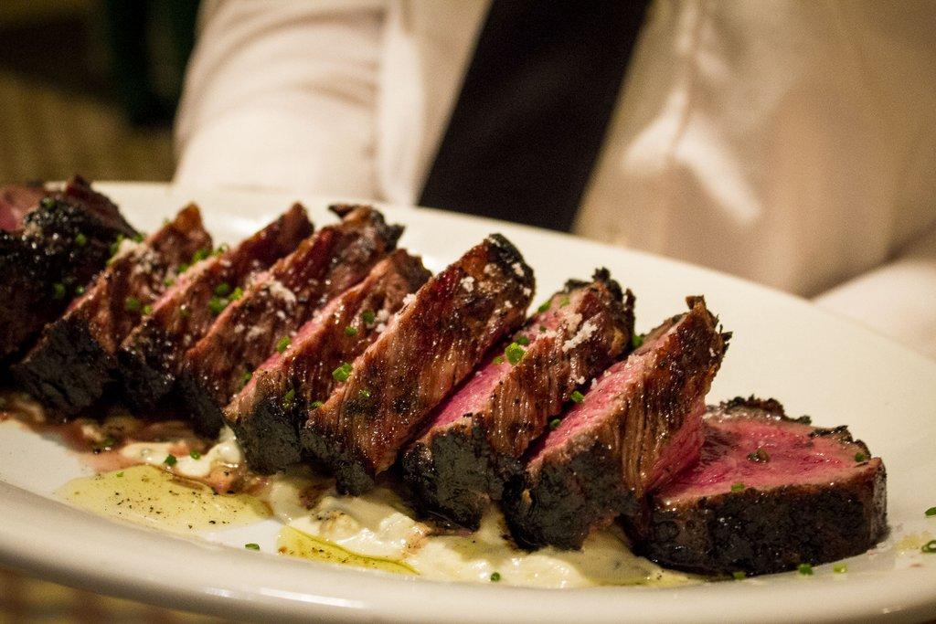 """Chef Michael Toscano's Calabrian chile-rubbed steak """"alla Toscano."""""""