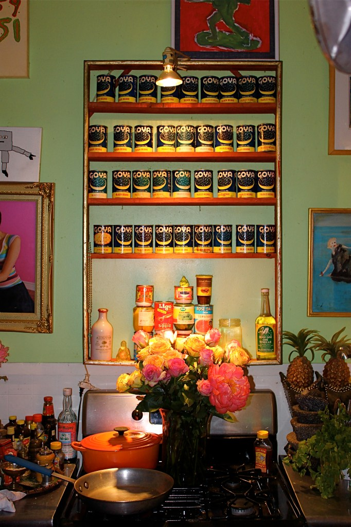 Even cans of Goya beans turned into something special in Chuck's hands.
