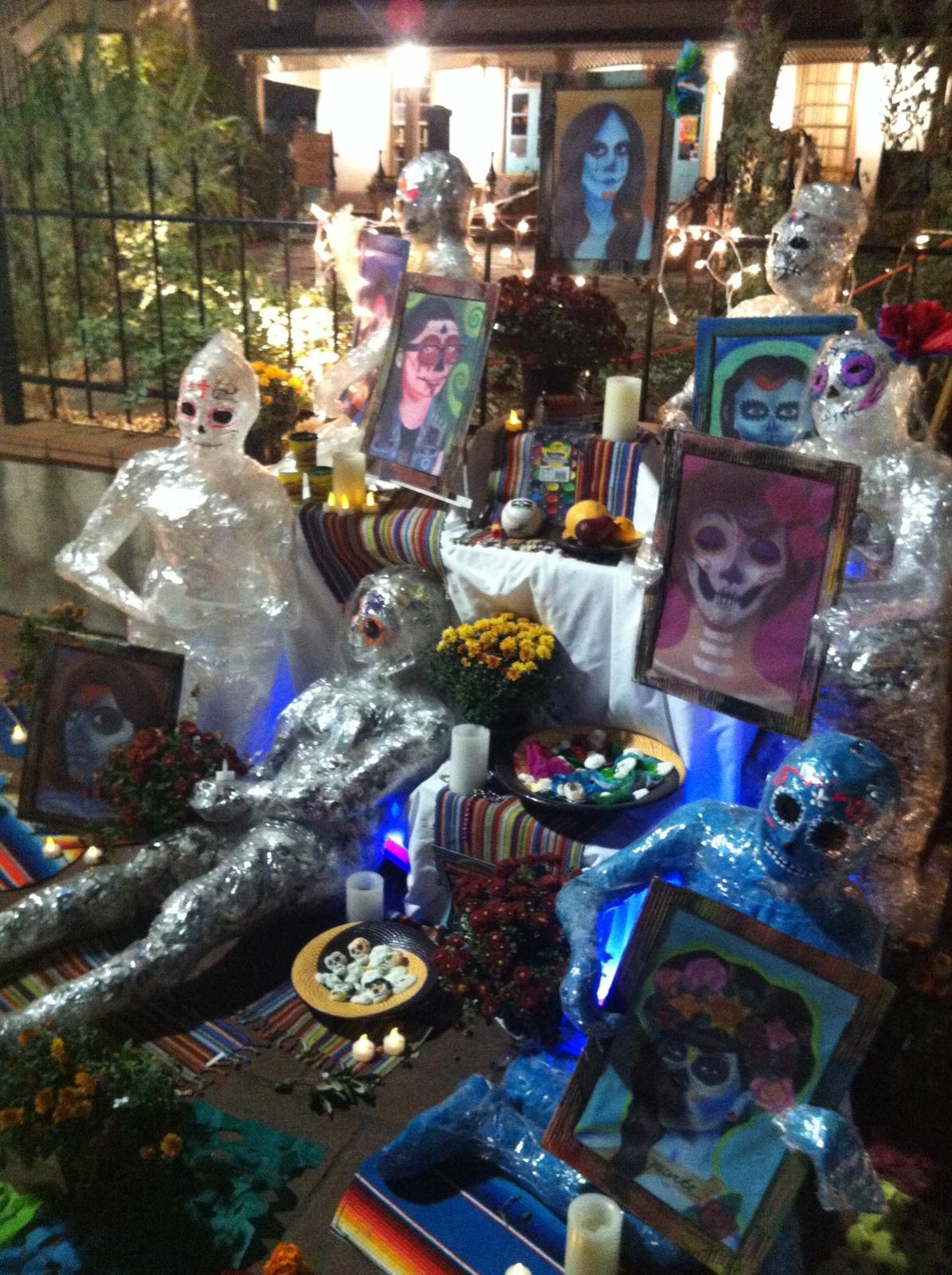 Amazing artistic alters at Dia de los Muertos Fest in La Villita. Photo courtesy of Regan Turner