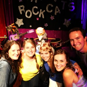 Even cats played instruments this weekend at the Josephine Theatre. Photo courtesy of Taylor Allen