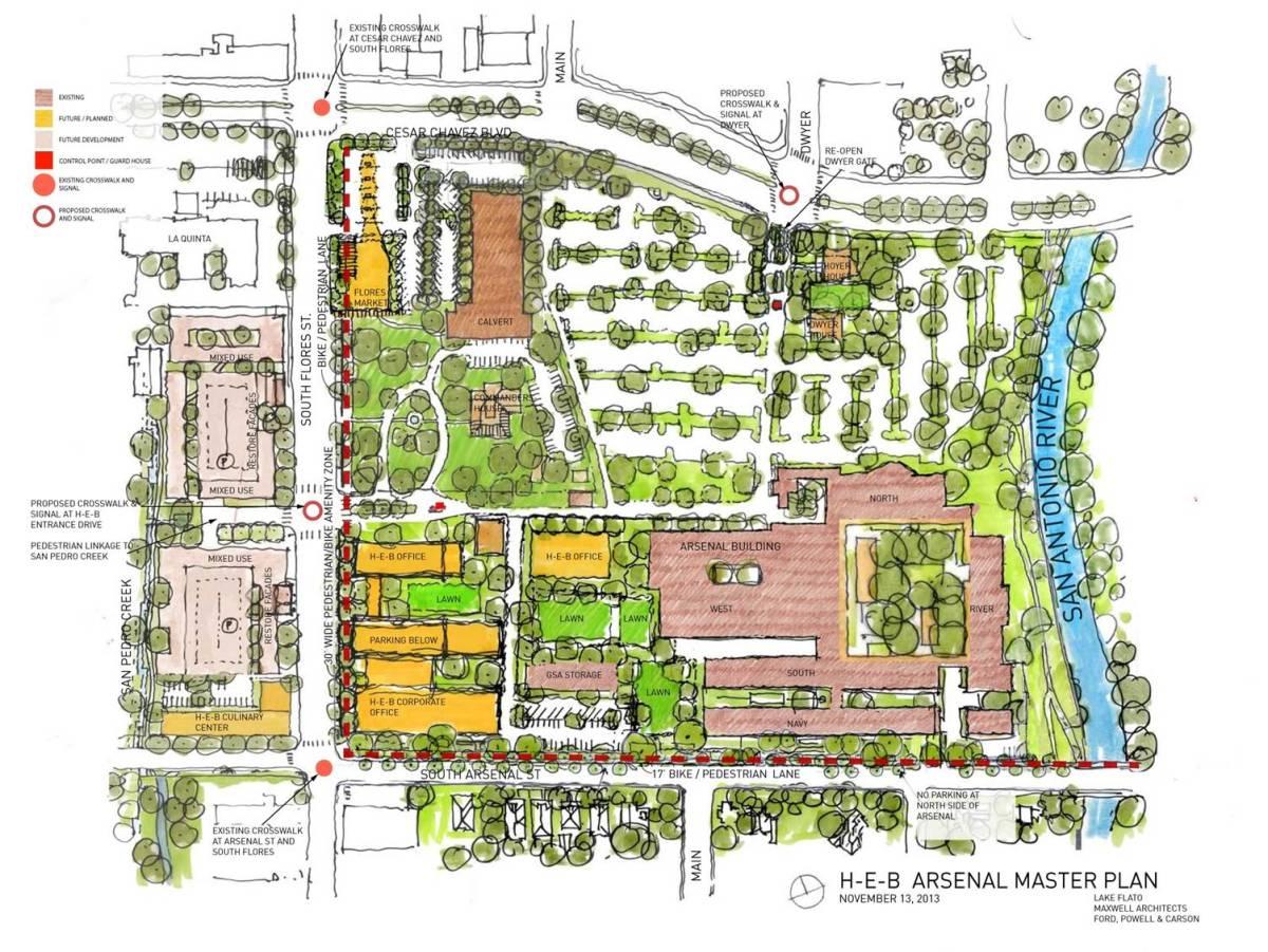 H-E-B master plan renderings courtesy of Lake/Flato Architects.