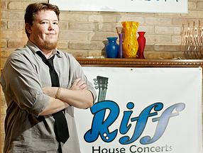 Tim Slusher is the president and founding member of M.U.S.I.C. Project (501c3 application is still processing). He is also founder of Riff House Concerts, a local promoter/venue focused on intimate performances. follow Tim on Twitter at @cosmicclimb (photo via riffhouseconcerts.com)