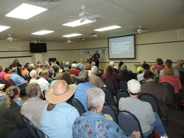 When it comes to education on Rainwater Harvesting, it's standing room only at the Hill Country Alliance's Rainwater Revival. Photo by Milan Machalec.