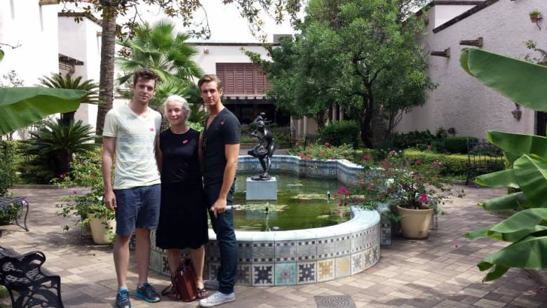 Brother (right)  and mother at the McNay during a visit in October. Courtesy photo.