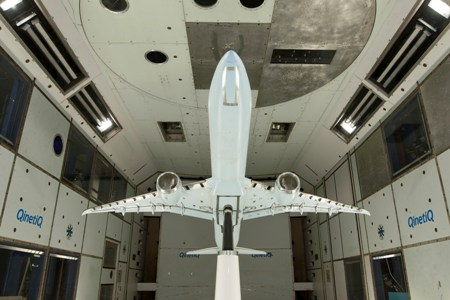 The Boeing 777X began low speed wind tunnel tests in december – a major milestone in airplane development. Photo courtesy of Boeing.