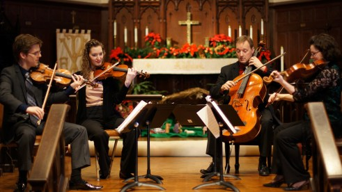 Musicians of Camerata. Photo courtesy of Ken Freudigman (third from left).