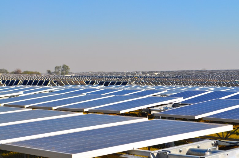 Alamo 1 solar farm by the numbers: 167,0000 panels, 445 acres, 41 MW, $110 million. Photo by Iris Dimmick.