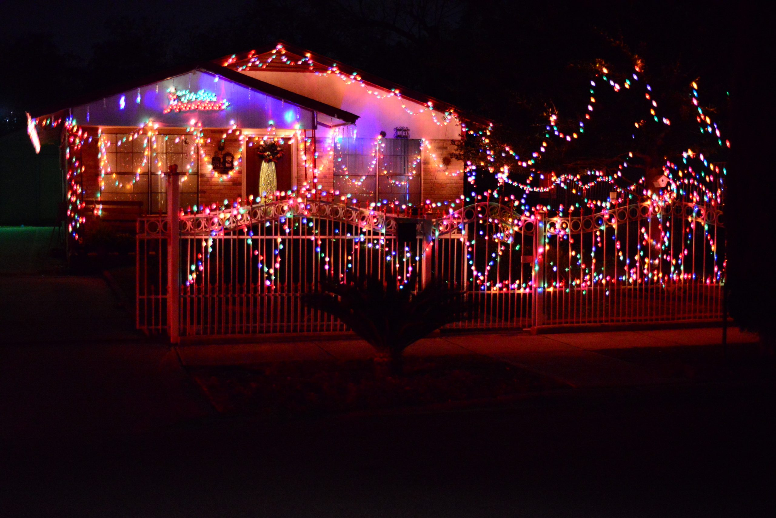 A San Antonio home decorated for the 2013 holiday season. Photo by Page Graham