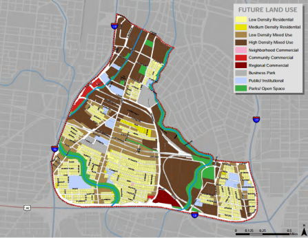 Future land use map from the City's Lone Star Community Plan.