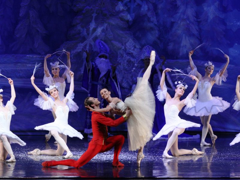 """A scene from The Moscow Ballet's """"Great Russian Nutcracker,"""" The prince in the snow forest. Photo courtesy of The Moscow Ballet."""