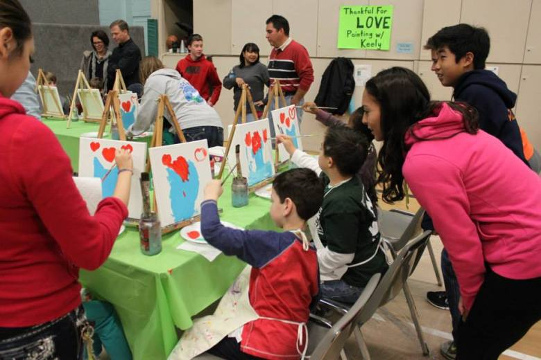 Aside from gymnastics, dance, swimming and basketball, the organization started in 2001 also offers art programs.