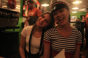 My best friend, Shayna, and I during my 'I hate everything San Antonio' rebel phase. (author photo, Austin, TX)