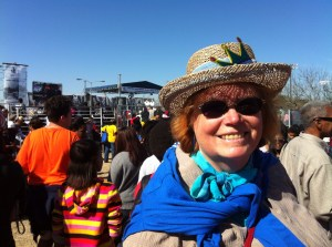 Catherine Lee at the 2014 MLK Day march in San Antonio. Photo by Betsey Garland.