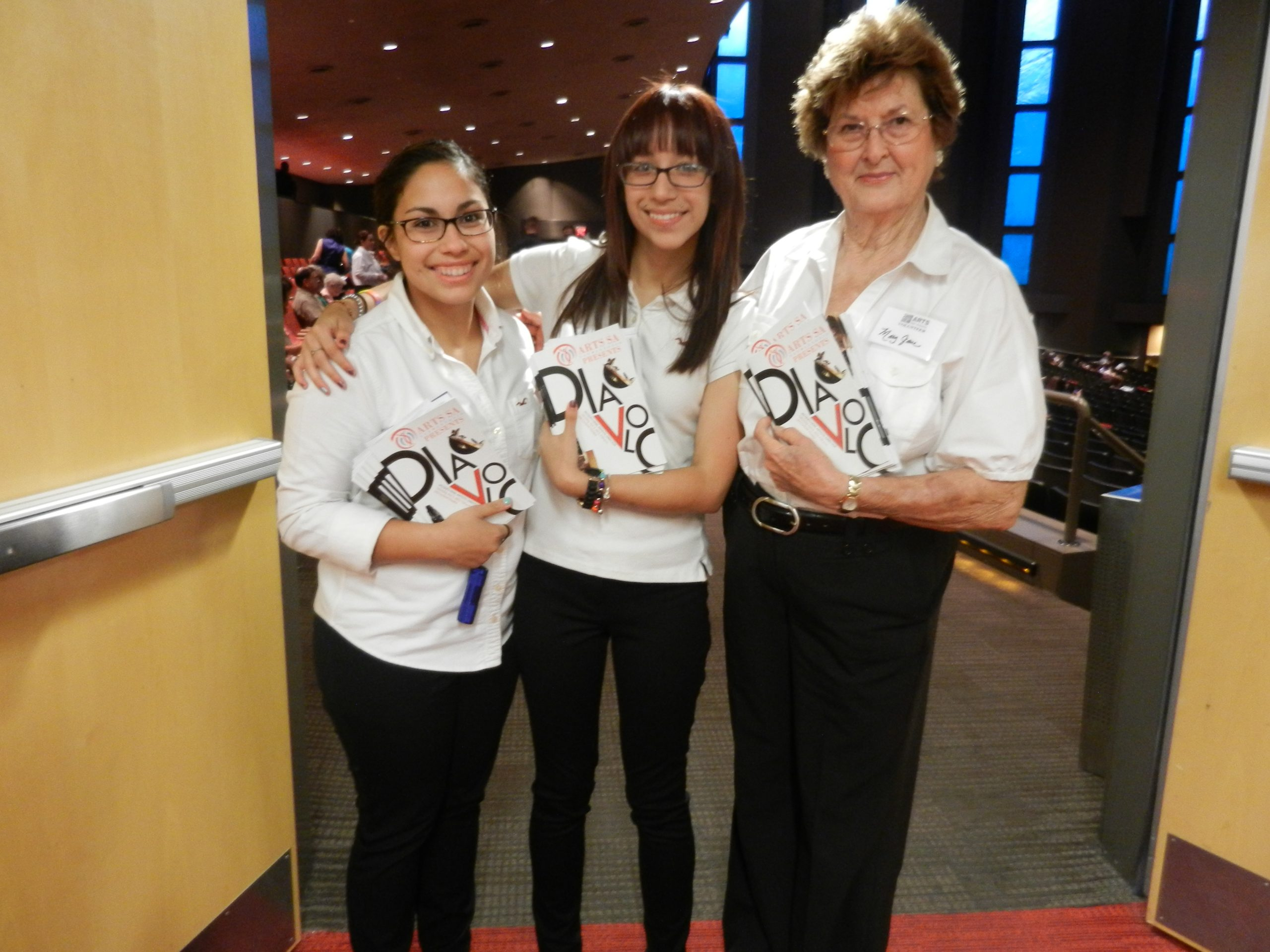 Volunteers at this season's Diavolo Dance Theatre event. Photo by Melanie Robinson.