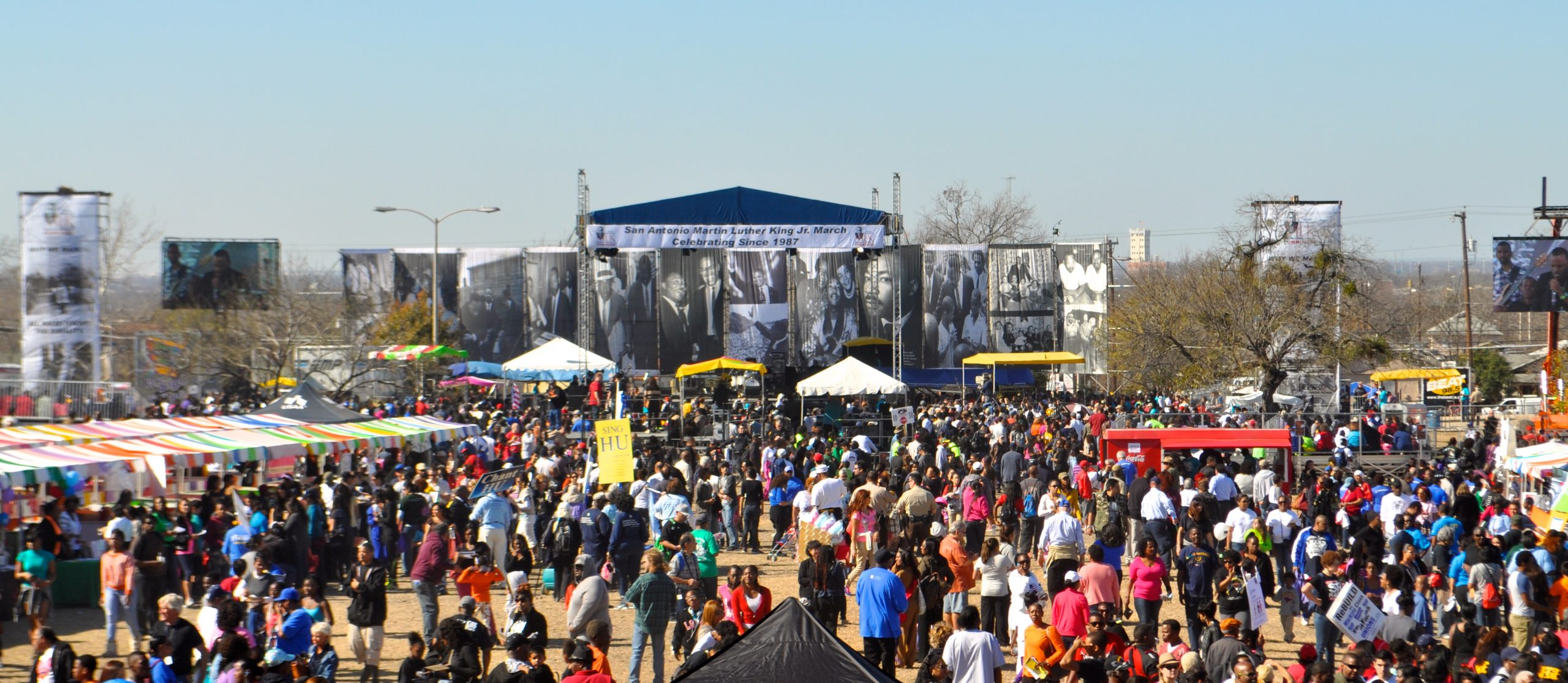Organizers estimate that more than 170,000 people attended this year's MLK Day celebration. Photo by Iris Dimmick.