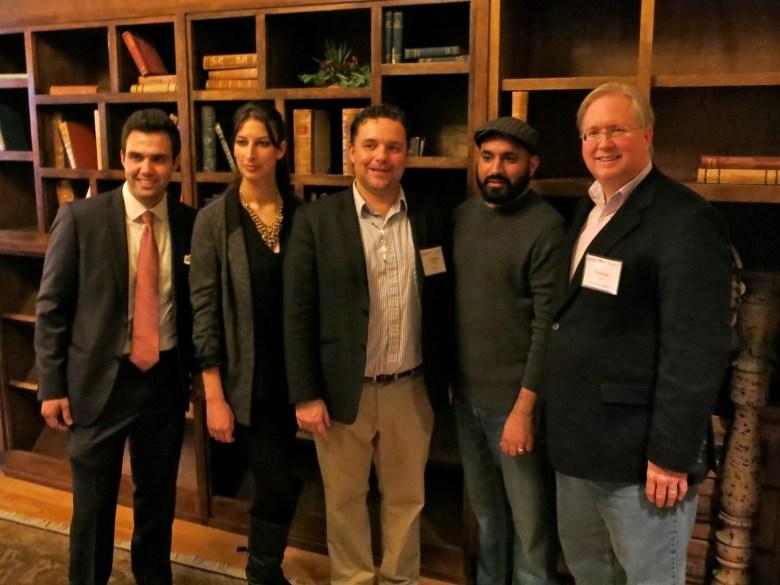 Left to right: Jesus Salas (Geekdom), Emily Fowler (HeroX), Christian Cotichini (HeroX), Lorenzo Gomez (Geekdom, 80/20 Foundation), Graham Weston (Rackspace).