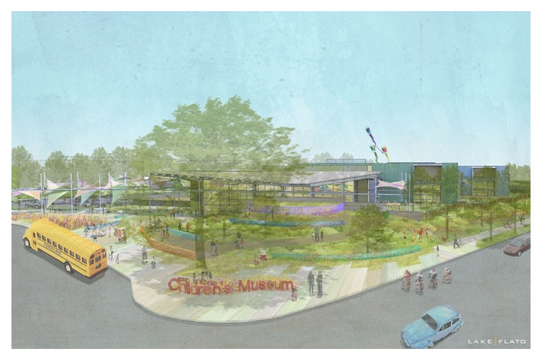 Lake/Flato Architects' artistic rendering of the Do Seum.