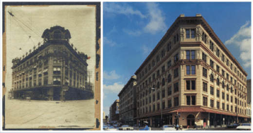 110 Broadway building in 1904 and 2014. Courtesy photos.
