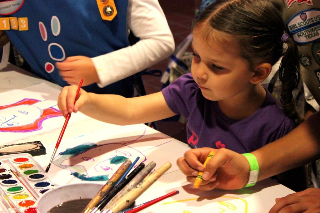 A young girl participates in an ARtsTEach workshop. Photo Melanie Robinson.