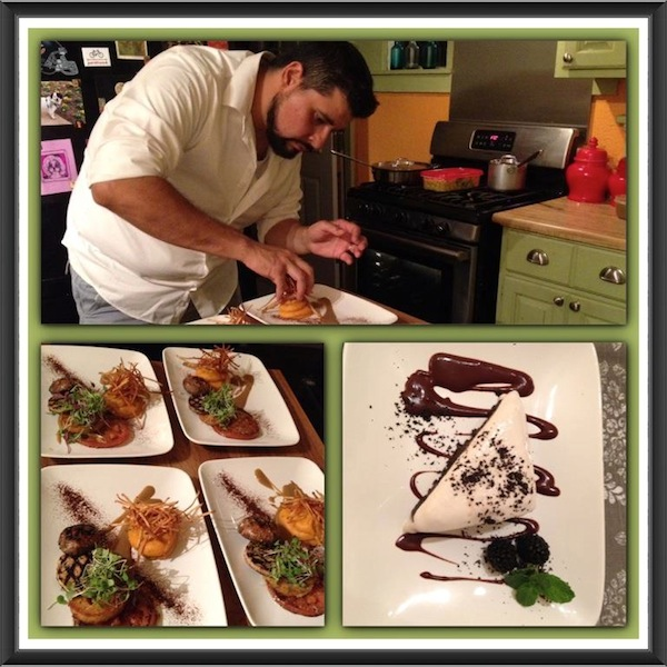 José Cruz preparing for a party in the kitchen of his now destroyed house. Courtesy photo(s).