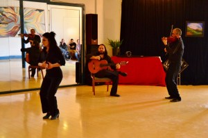 Members of Arte y Pasión performing at Uptown Studio. Photo by Page Graham.