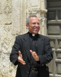Father David Garcia, Director of the Old Spanish Missions, at Mission Concepción. Photo by Carol Baass Sowa / Today's Catholic.