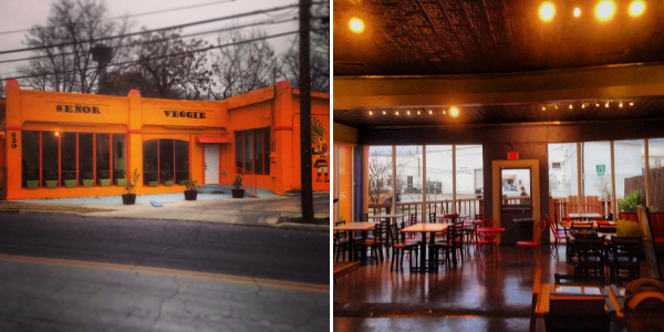 Inside and out Señor Veggie. Images courtesy of Señor Veggie's Facebook page.