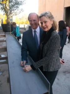 Bexar County Judge Nelson Wolff and wife Tracy Wolff