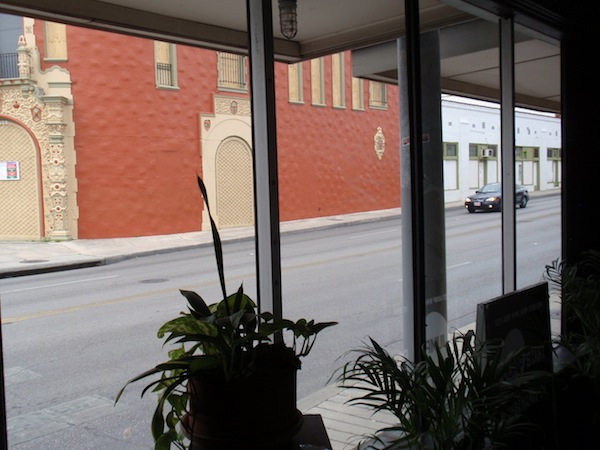 The view of Fredericksbur Road from Jump-Start's new space - photo by Kevin Tobar Pesantez