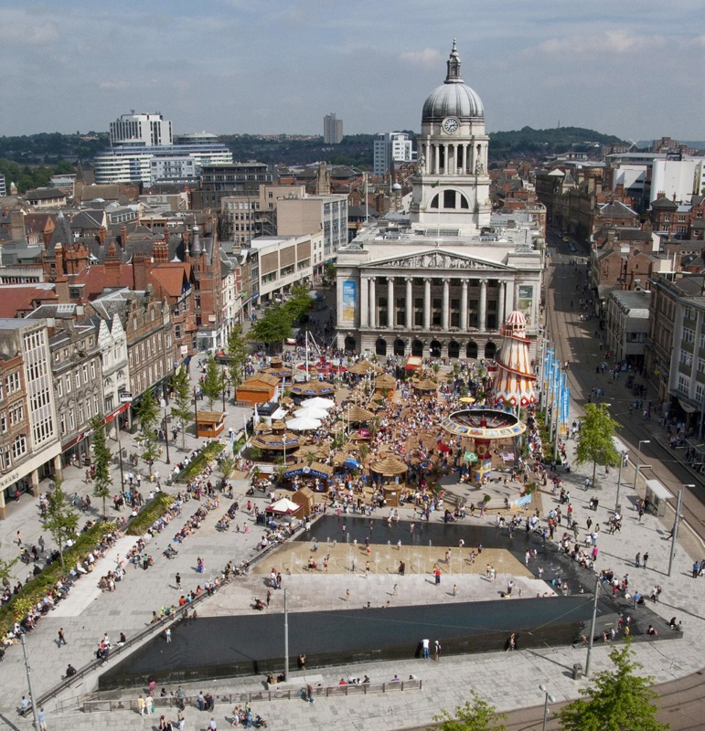 Old Market Square in Nottingham, UK by GUSTAFSON PORTER (image credit: Martine Hamilton)